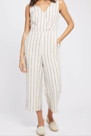 Gentle Fawn Stripe Linen Jumpsuit - Product Mini Image