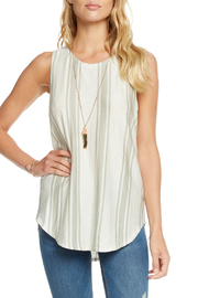 Chaser Stripe Linen Lace Back Tank - Product Mini Image