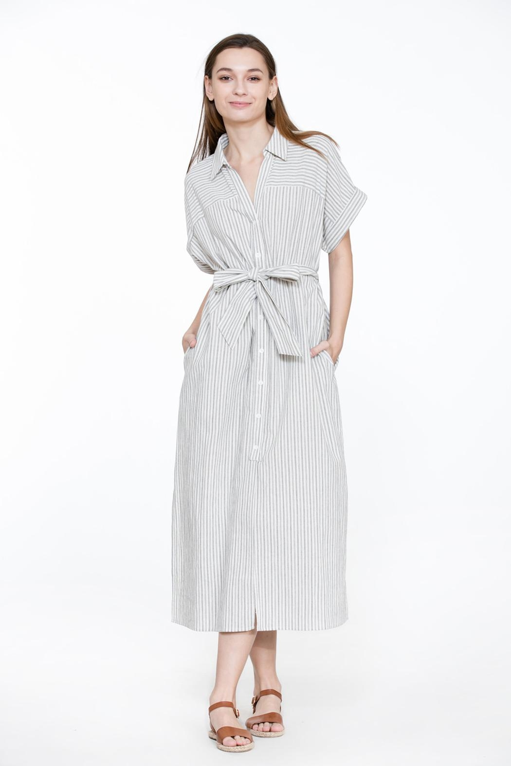 085c7f70378 Bio Stripe Linen Shirtdress from Brooklyn by BB Collective — Shoptiques