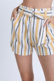 Love Tree Stripe Linen Shorts - Product Mini Image