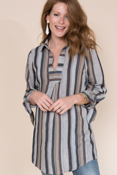 Ivy Jane  Stripe Linen Tunic - Product List Image