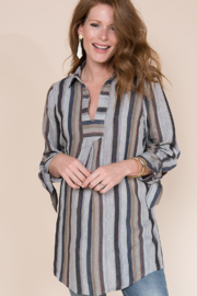 Ivy Jane  Stripe Linen Tunic - Product Mini Image
