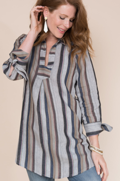 Ivy Jane  Stripe Linen Tunic - Alternate List Image