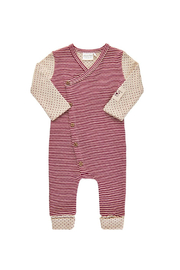 Minymo Stripe Long Sleeve Romper - Product Mini Image