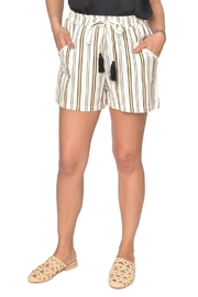 Designers Society Stripe Lounge Shorts - Product Mini Image