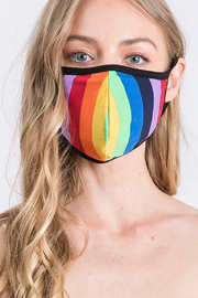 Amite  Stripe Mask - Front cropped
