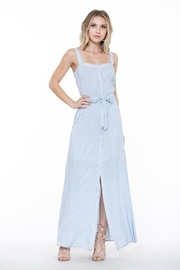 En Creme Stripe Maxi Dress - Front full body