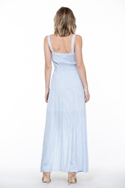 En Creme Stripe Maxi Dress - Back cropped
