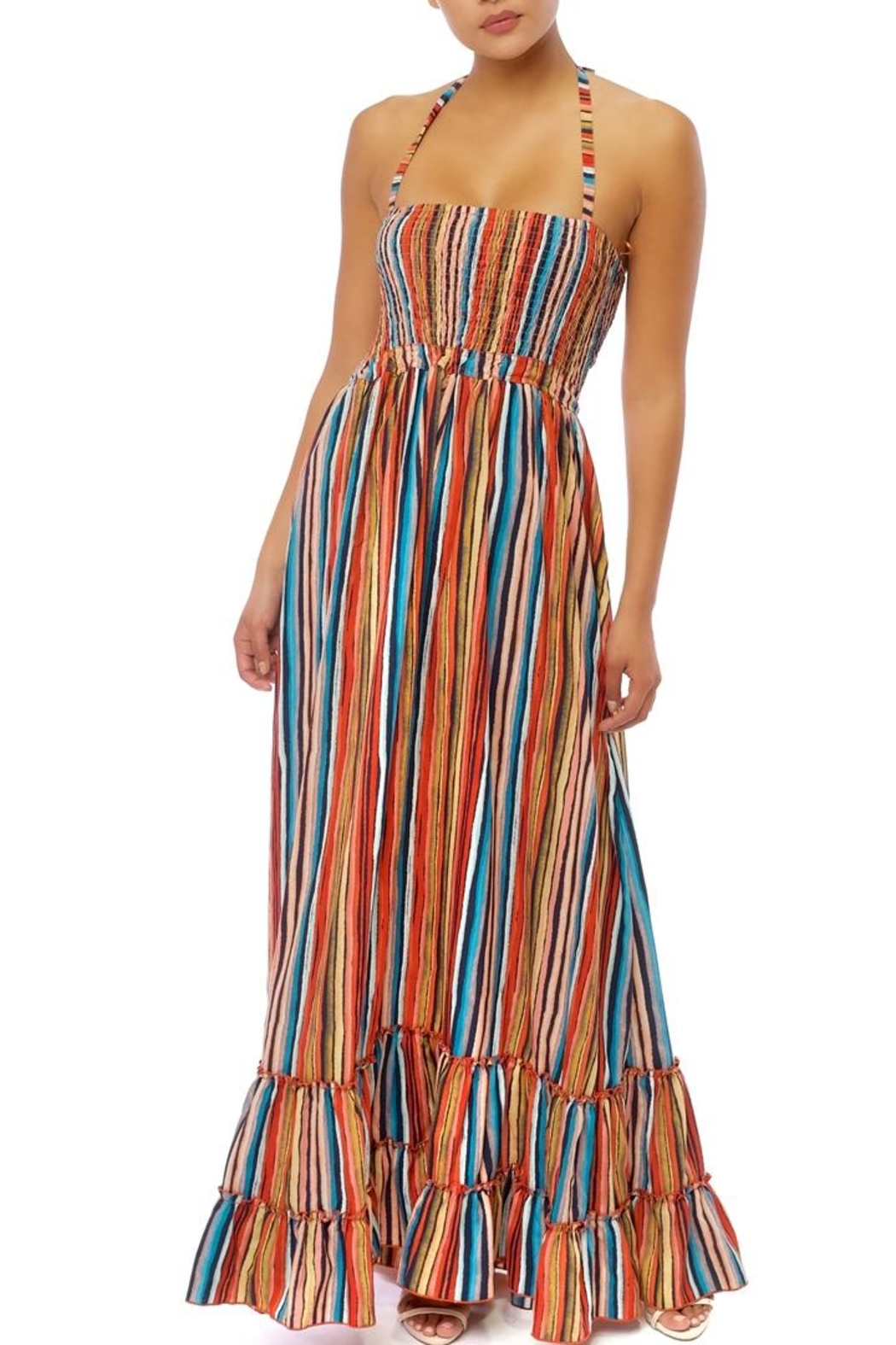 luxxel Stripe Maxi Dress - Main Image