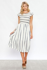 Flying Tomato Stripe Midi Dress - Product Mini Image