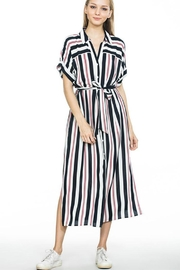 En Creme Stripe Midi Dress - Product Mini Image