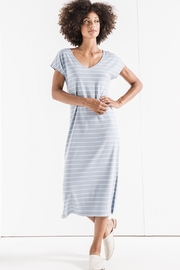 z supply Stripe Midi Drop Dress - Product Mini Image
