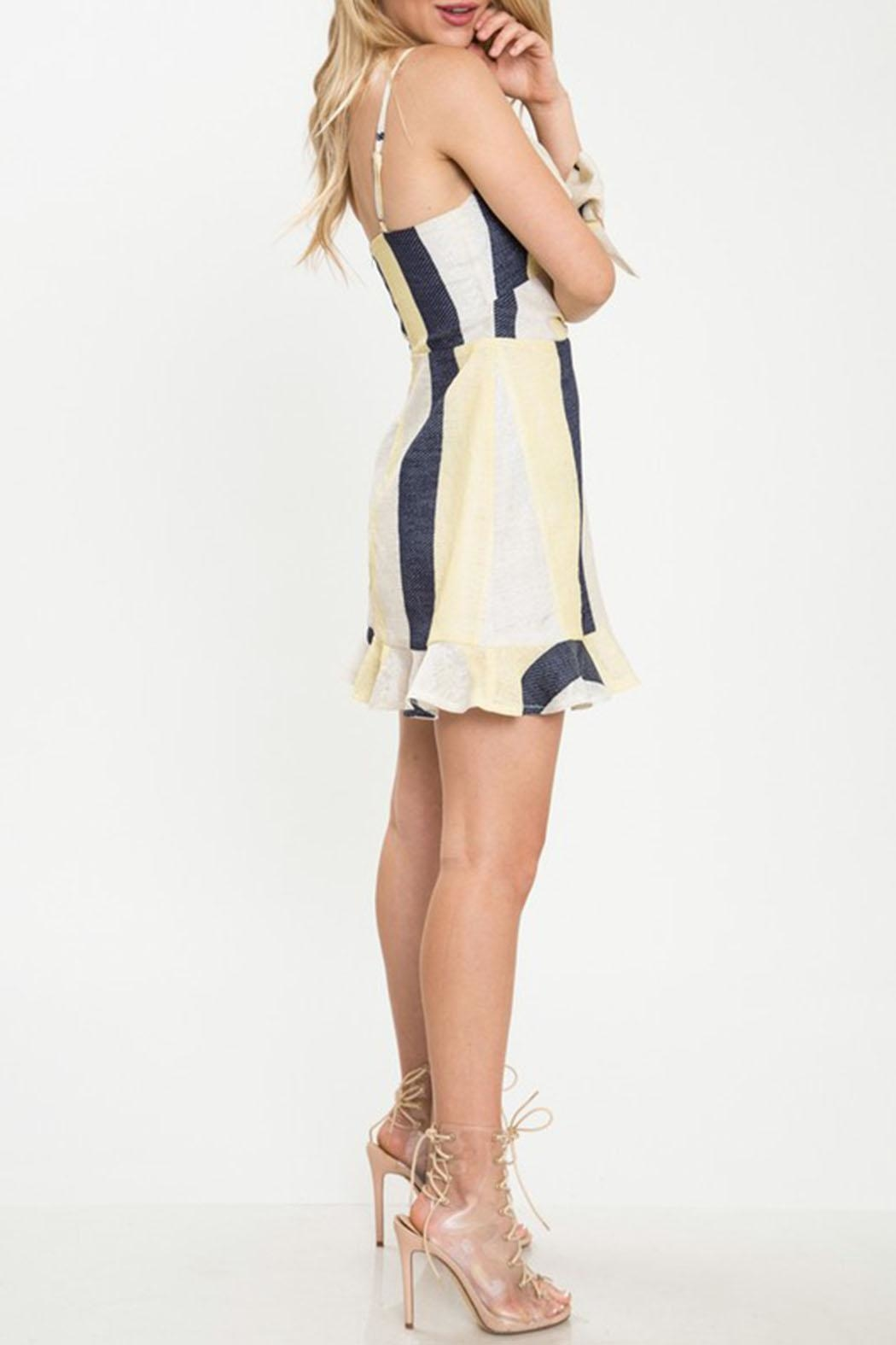 Latiste Stripe Mini Dress - Front Full Image