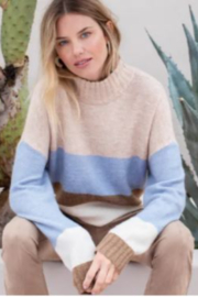 Tribal  Stripe Mock Neck Sweater - Product Mini Image
