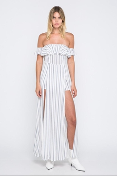 Shoptiques Product: Stripe Off-Shoulder Maxi