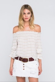 skylar madison Stripe Off-Shoulder Top - Product Mini Image