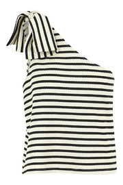 Bishop and Young Stripe One Shoulder Top - Front cropped