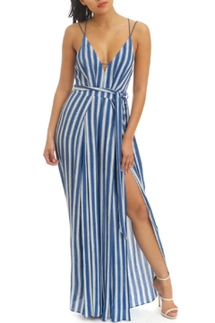 Shoptiques Product: Stripe Open Jumpsuit