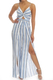 luxxel Stripe Open Jumpsuit - Product Mini Image