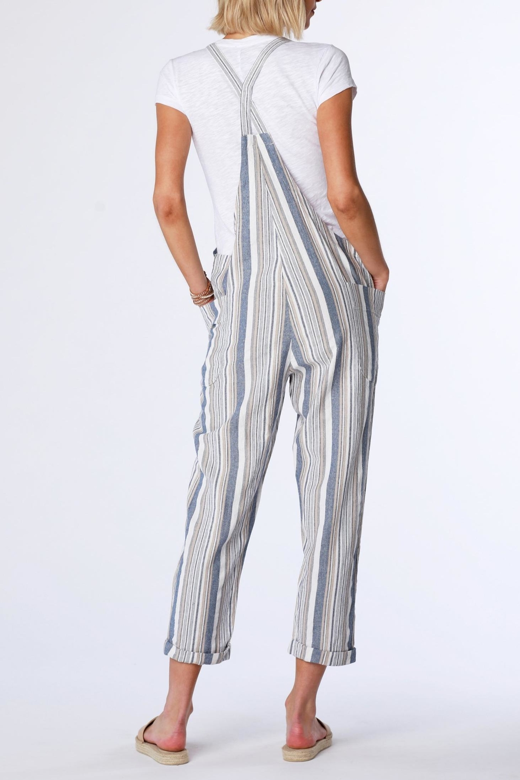 Bobi Stripe Overall - Side Cropped Image