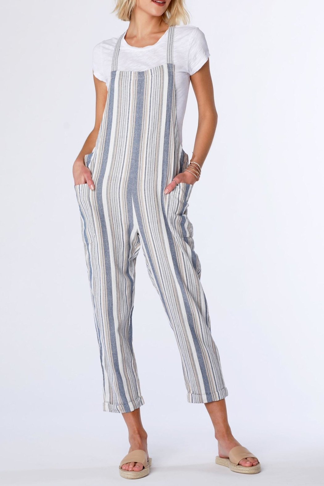 Bobi Stripe Overall - Front Cropped Image