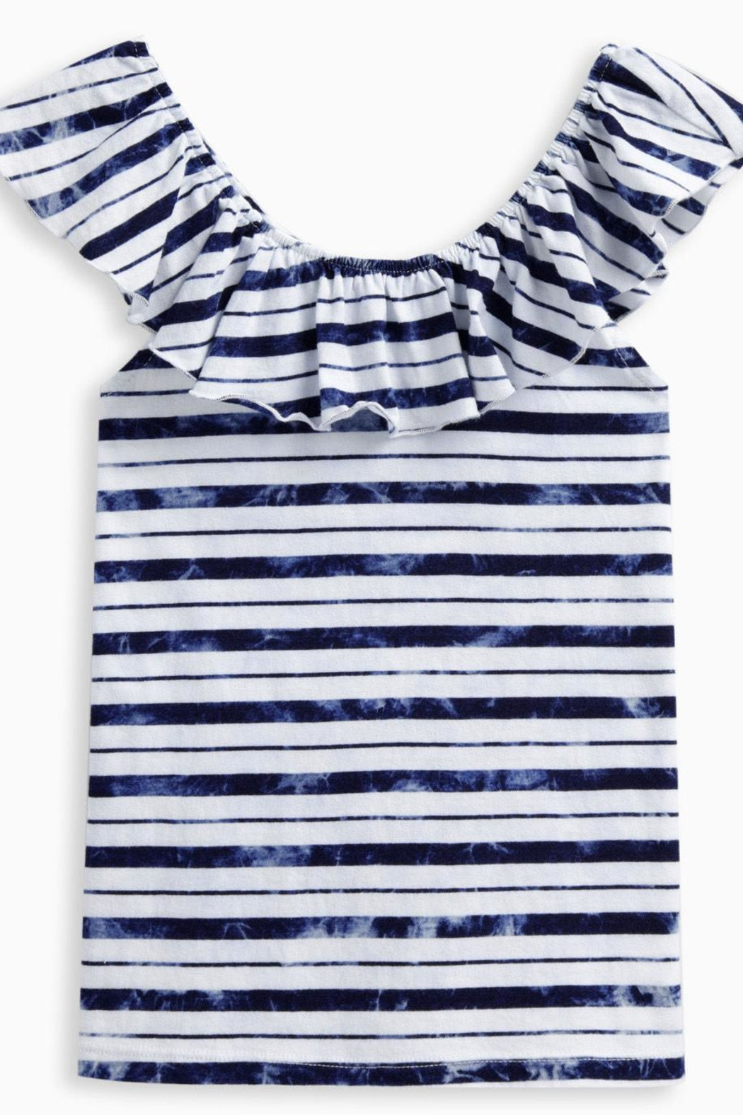 Splendid Stripe Peasant Top - Front Cropped Image