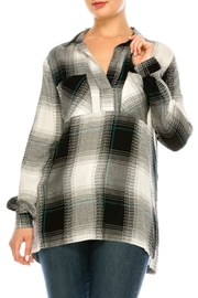 Lush Stripe Plaid Blouse - Product Mini Image