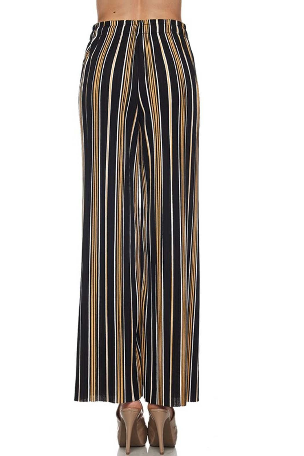 New Mix Stripe Pleated Pant - Front Full Image