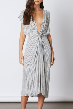 Cotton Candy  Stripe Plunge Neck Dress - Product List Image