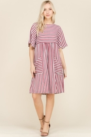 Polagram Stripe Pocket Dress - Product Mini Image