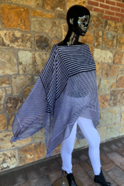 Giftcraft Inc.  Stripe Poncho Coverup - Product Mini Image