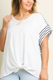 Umgee USA Stripe Print Top - Front cropped