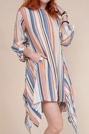 Ivy Jane Stripe Puff Sleeve Square Hem Dress - Product Mini Image