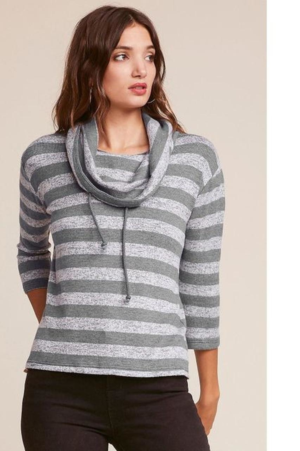 Jack by BB Dakota Stripe Pullover - Front Cropped Image