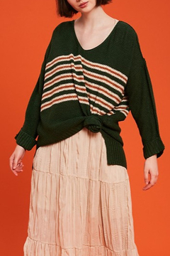 Listicle Stripe Pullover Sweater - Product List Image
