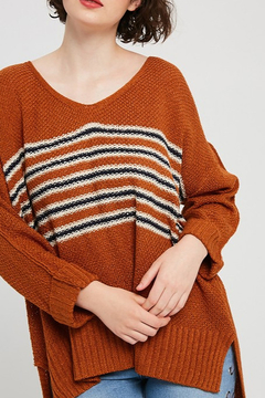 Listicle Stripe Pullover Sweater - Alternate List Image