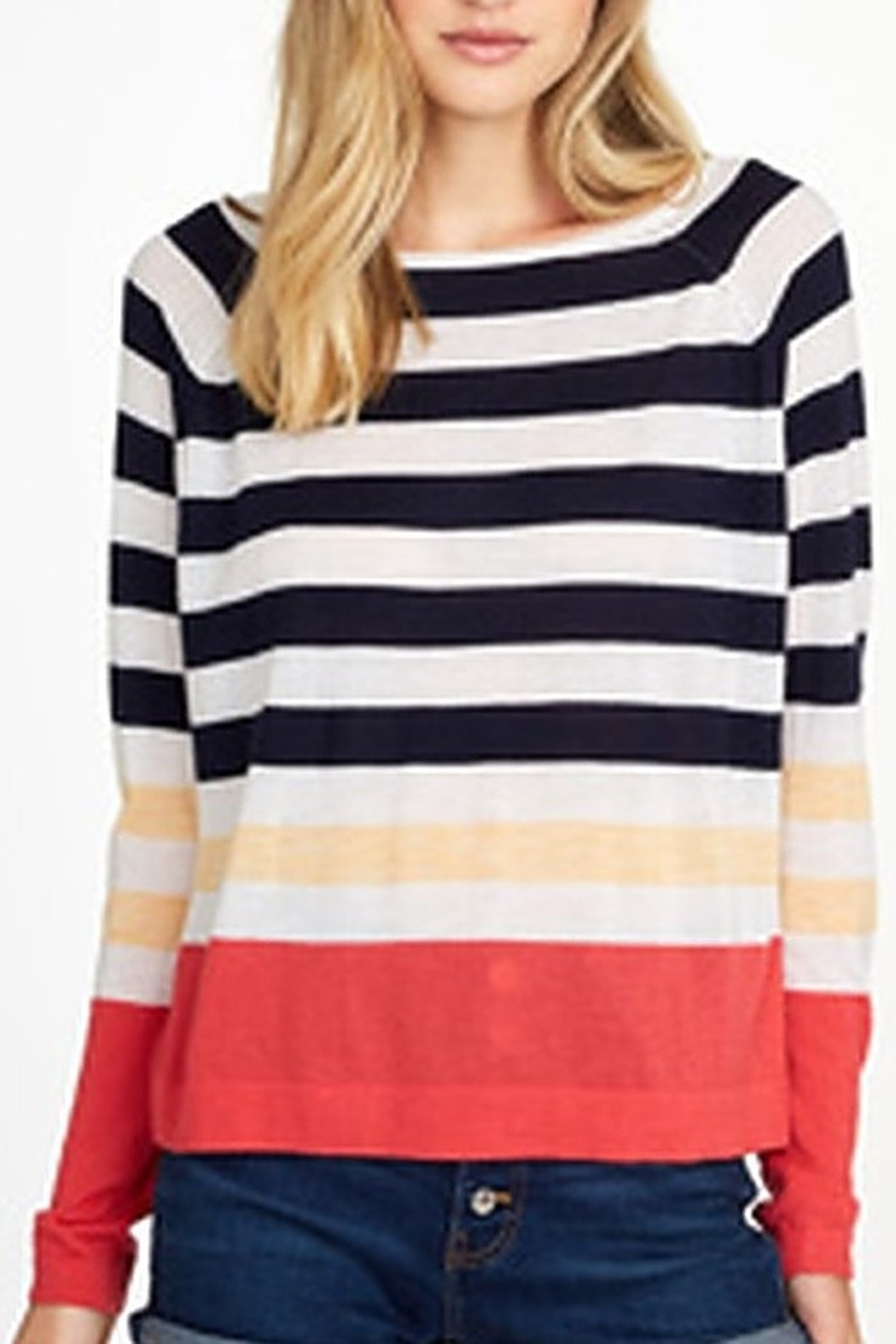 Autumn Cashmere Stripe Raglan - Front Cropped Image
