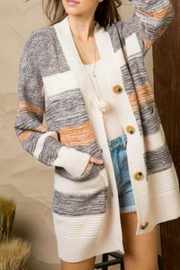 Main Strip Stripe Retro Cardigan - Product Mini Image