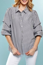 INSIGHT NYC Stripe Ruched Shirt - Product Mini Image