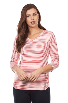 FDJ French Dressing Stripe Ruched Top - Alternate List Image