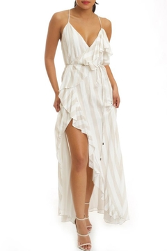 Shoptiques Product: Stripe Ruffle Maxi