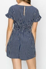 ALB Anchorage Stripe Ruffle-Sleeve Dress - Front full body