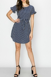 ALB Anchorage Stripe Ruffle-Sleeve Dress - Other