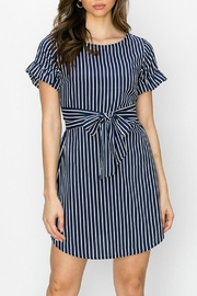 ALB Anchorage Stripe Ruffle-Sleeve Dress - Front cropped