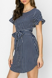 ALB Anchorage Stripe Ruffle-Sleeve Dress - Side cropped