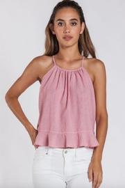 Velvet Heart Stripe Ruffle Tank - Product Mini Image