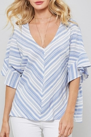 Promesa USA Stripe Ruffle Top - Product Mini Image