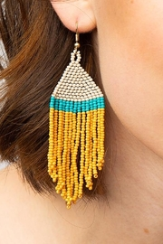 Ink + Alloy Stripe Seed Bead Earring - Front cropped