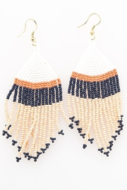 Ink + Alloy Stripe Seed Bead Earring - Product Mini Image