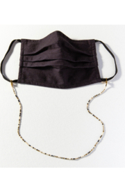 Ink + Alloy Seed Bead Mask Necklace - Front cropped